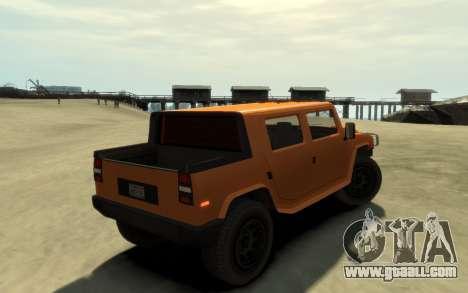 Mammoth Patriot Pickup v2 for GTA 4 left view