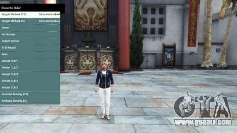 GTA 5 The character menu second screenshot