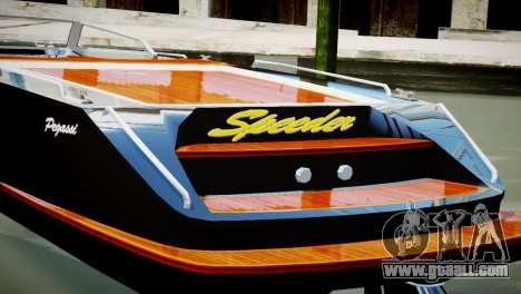 Speeder from GTA 5 for GTA 4 back left view
