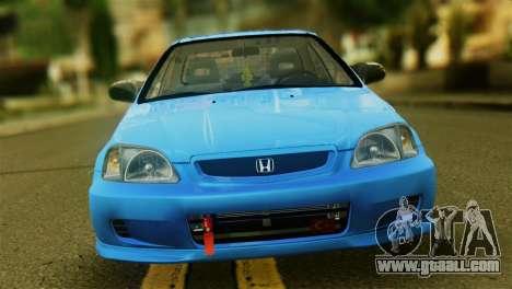 Honda Civic for GTA San Andreas back view