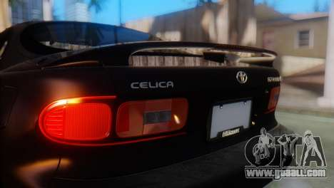 Toyota Celica for GTA San Andreas back view
