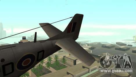 P-51D Mustang for GTA San Andreas back left view