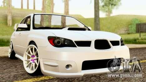 Subaru Impreza WRX STI Stance for GTA San Andreas right view