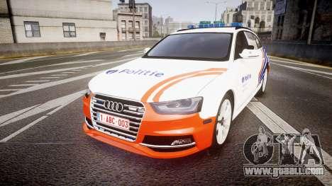Audi S4 Avant Belgian Police [ELS] orange for GTA 4