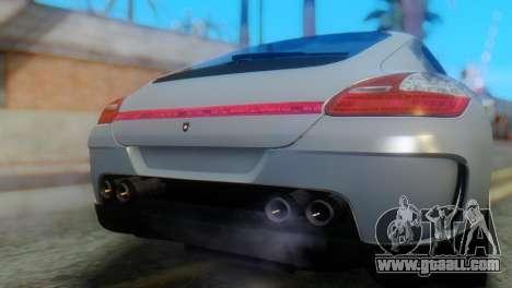 Porsche Panamera Turbo for GTA San Andreas back view
