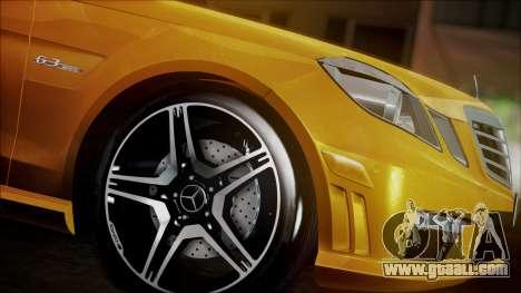 Mercedes-Benz E63 for GTA San Andreas back left view