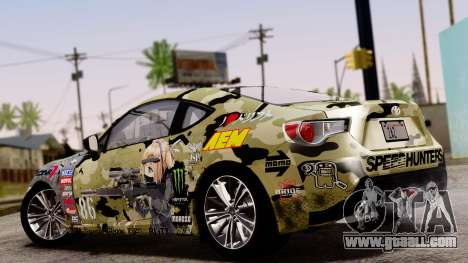 Toyota GT86 (ZN6) 2012 PJ for GTA San Andreas inner view