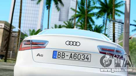 Audi A6 Stanced for GTA San Andreas back view