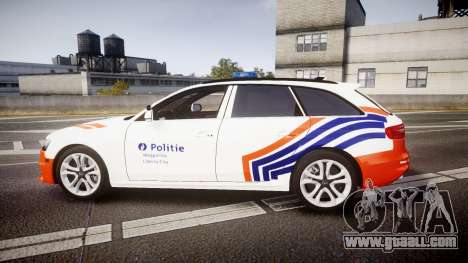 Audi S4 Avant Belgian Police [ELS] orange for GTA 4 left view