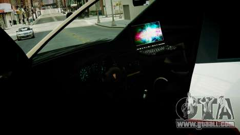 Subaru Impreza WRX STI Police for GTA 4 back view