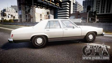 Ford LTD Crown Victoria 1987 Detective [ELS] v2 for GTA 4 left view
