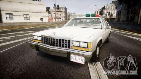 Ford LTD Crown Victoria 1987 Detective [ELS] for GTA 4