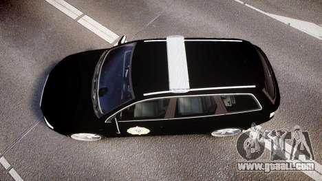 Audi S4 Avant Serbian Police [ELS] for GTA 4 right view