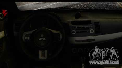 Mitsubishi Lancer Evo X Nunes for GTA San Andreas right view