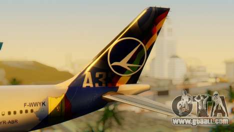 Airbus A330 TAROM Romania for GTA San Andreas back left view