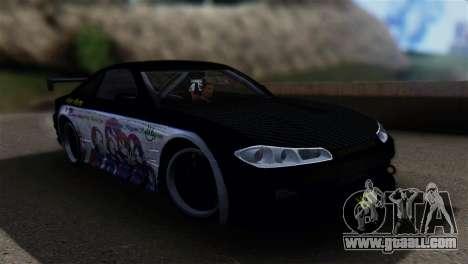 Nissan Silvia S15 K-on Itasha for GTA San Andreas back left view