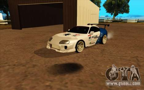 Toyota Supra Blue Robot for GTA San Andreas