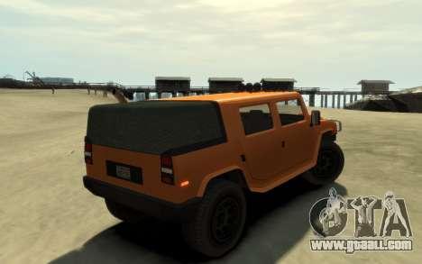 Mammoth Patriot Pickup v2 for GTA 4 back left view