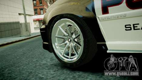 Subaru Impreza WRX STI Police for GTA 4 back left view