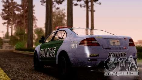 GTA 5 Vapid Police Interceptor v2 SA Style for GTA San Andreas left view