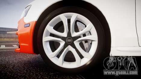 Audi S4 Avant Belgian Police [ELS] orange for GTA 4 back view