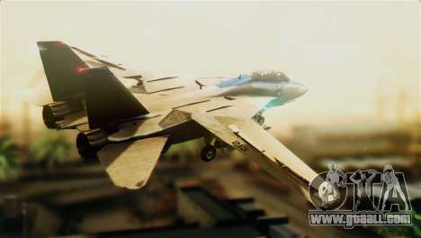 F-14D VF-213 Black Lions for GTA San Andreas left view