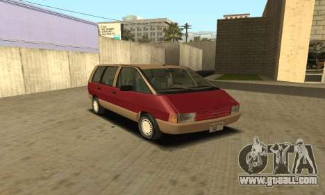 Renault Espace 2000 GTS for GTA San Andreas back left view