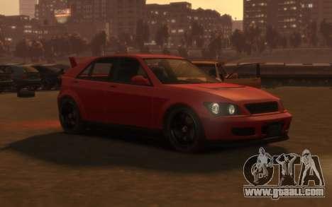 Karin Sultan Hatchback v2 for GTA 4 left view