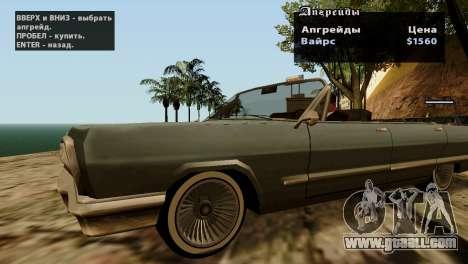 Wheels from GTA 5 v2 for GTA San Andreas eighth screenshot