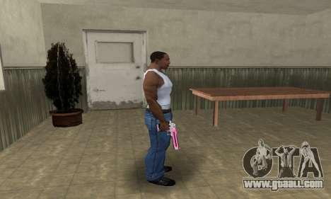 Pink Deagle for GTA San Andreas third screenshot