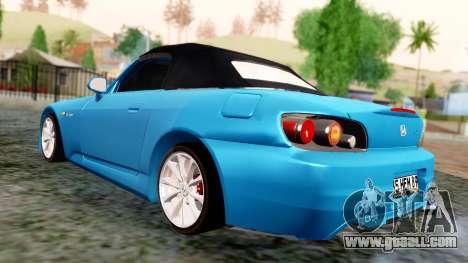 Honda S2000 for GTA San Andreas back left view