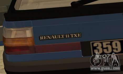 Renault 11 TXE Taxi for GTA San Andreas interior
