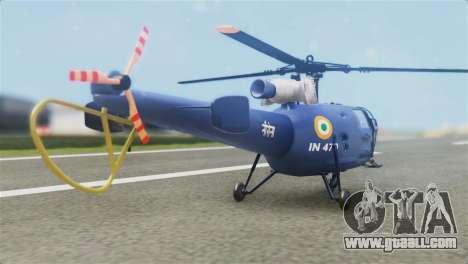 Indian Navy CHETAK Heli Skin for GTA San Andreas left view