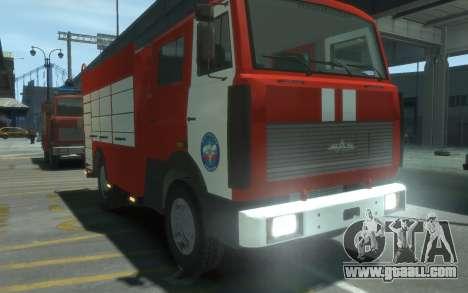 MAZ 533702 of EMERCOM of Russia for GTA 4 right view