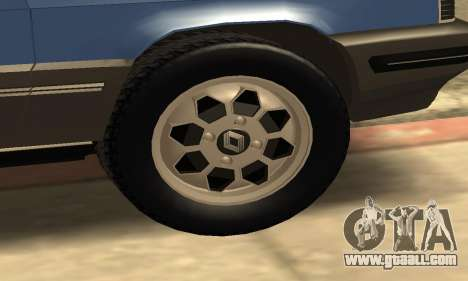 Renault 11 TXE Taxi for GTA San Andreas bottom view