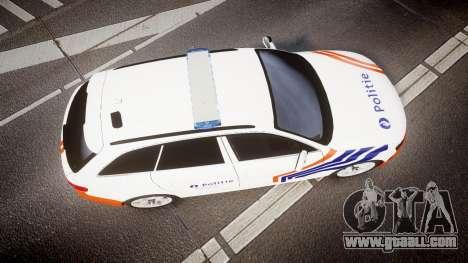 Audi S4 Avant Belgian Police [ELS] orange for GTA 4 right view