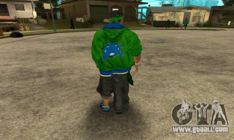 Groove St. Nigga Skin Second for GTA San Andreas third screenshot
