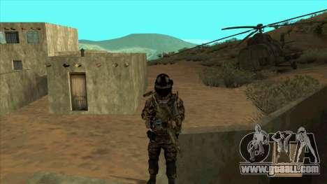 BF3 Soldier for GTA San Andreas fifth screenshot