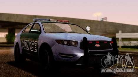 GTA 5 Vapid Police Interceptor v2 SA Style for GTA San Andreas back view
