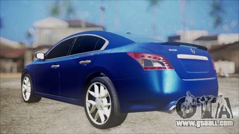 Nissan Maxima 2009 for GTA San Andreas back left view