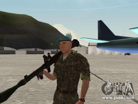 The airborne soldier of Ukraine for GTA San Andreas sixth screenshot