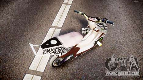 Yamaha Aerox Stunt for GTA 4 back left view