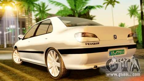 Peugeot 406 for GTA San Andreas back left view
