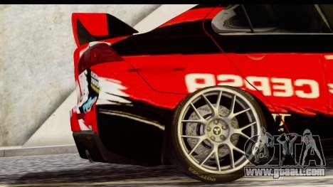 Mitsubishi Lancer Evo X Nunes for GTA San Andreas back left view