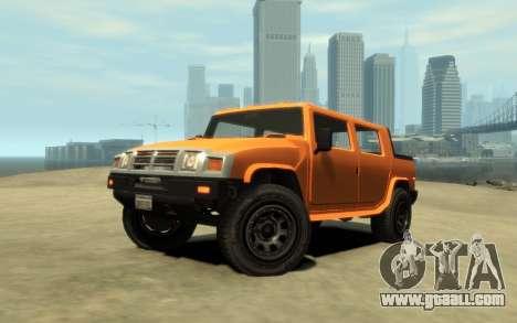 Mammoth Patriot Pickup v2 for GTA 4 right view