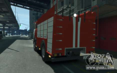 MAZ 533702 of EMERCOM of Russia for GTA 4 back left view