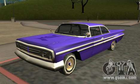 Luni Voodoo Remastered for GTA San Andreas left view