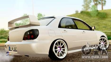 Subaru Impreza WRX STI Stance for GTA San Andreas back left view