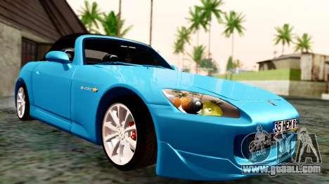 Honda S2000 for GTA San Andreas back view