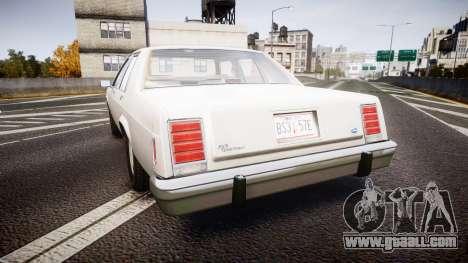 Ford LTD Crown Victoria 1987 Detective [ELS] v2 for GTA 4 back left view